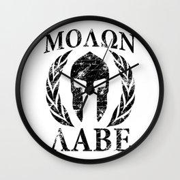 Molon labe spartan tr Wall Clock