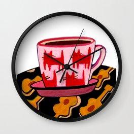 a cup of calmness .. Wall Clock