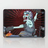 pirate ship iPad Cases featuring The Same Pirate, Different Ship by MenoTonik