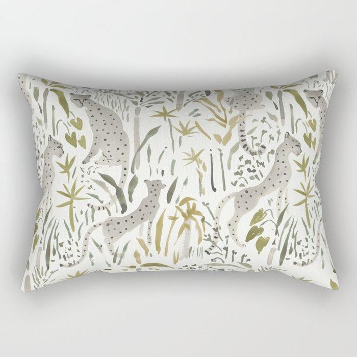 Grey Cheetahs Rectangular Pillow