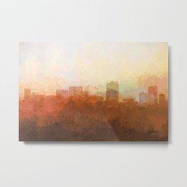 Honolulu, Hawaii Skyline - In the Clouds Metal Print