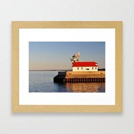 Canal Park Light House Framed Art Print
