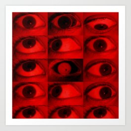 Is This What Eye Should Be Seeing (2018) - Redgrits Art Print