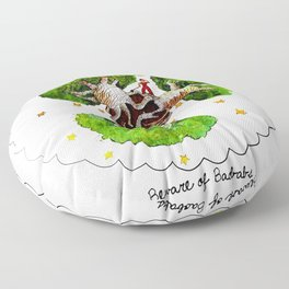 The Little Prince: Beware of Baobabs Floor Pillow