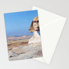 12,000pixel-500dpi - Jean-Leon Gerome - Bonaparte Before The Sphinx - Digital Remastered Edition Stationery Cards