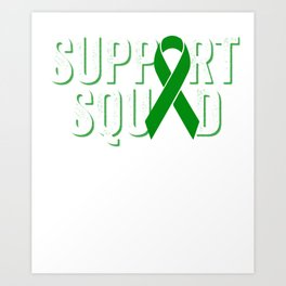Support Squad | Liver Cancer Awareness Art Print