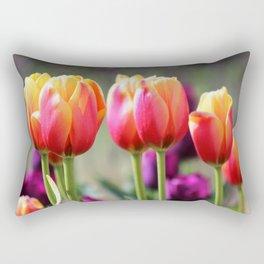 Tulips Aflame Rectangular Pillow