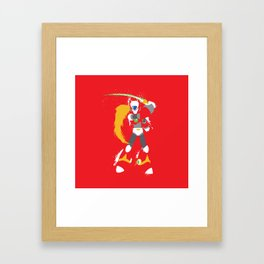 Zero (Mega Man X) Splattery Design Framed Art Print