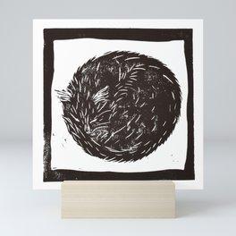 Cat Donut Mini Art Print