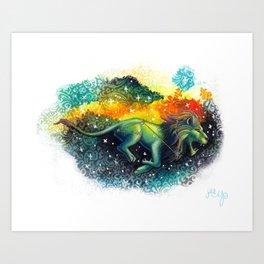 Leo the Lion- Zodiac Art Print
