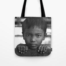 Children eyes of the Vietnamese innocence Tote Bag