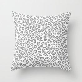 Leopard Dream Grey Throw Pillow