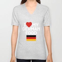 I Love My German Food Unisex V-Neck