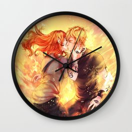 Heavenly Fire Wall Clock