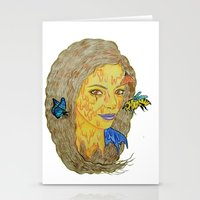 lorde Stationery Cards featuring Lorde by Montana