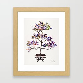 Bonsai Tree – Vintage Palette Framed Art Print
