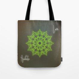 Heart chakra balancing mandala, love chakra healing Tote Bag