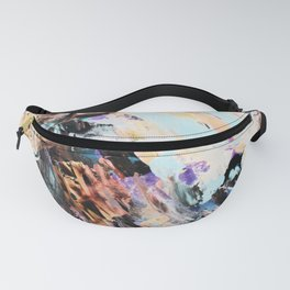 Bright multi-colored painting, contemporary art.  acrylic paint, abstract texture hand drawn gradien Fanny Pack