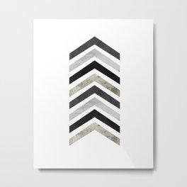 Arrow Geometric Metal Print