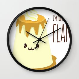 Biggest-Flan Wall Clock