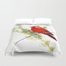 Cardinal Bird, Christmas decor gift Duvet Cover