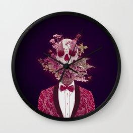 Skull Blossom Wall Clock