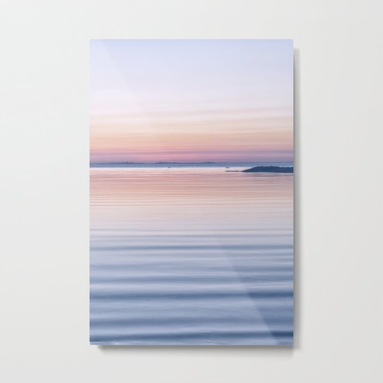 Pastel ripples sea and sky Metal Print