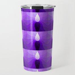 Monochromatic Purple pattern Travel Mug