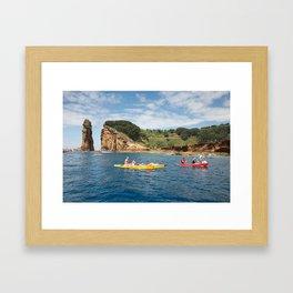 Kayaking in Azores Framed Art Print