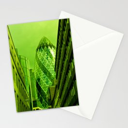 the Gherkin In Green Stationery Cards