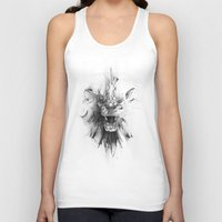 stone Tank Tops featuring STONE LION by Alexis Marcou