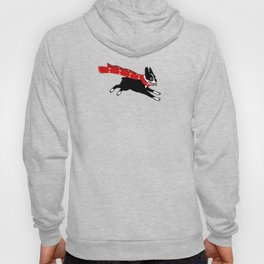 Red Winter Scarf Dog Hoody