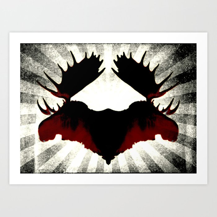 Moose Heads Art Print