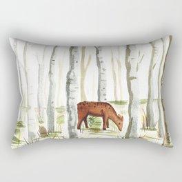 Doe in Aspen Grove Rectangular Pillow