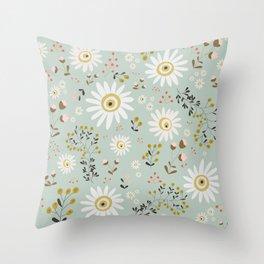 Gold Daisy Throw Pillow