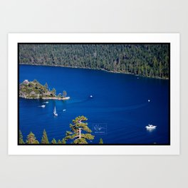 The Blue Water Of Emerald Bay Art Print