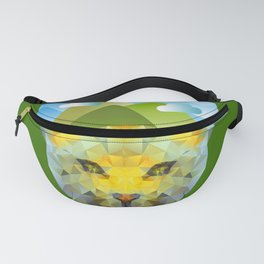 Leopard Mountain Low Poly Fanny Pack