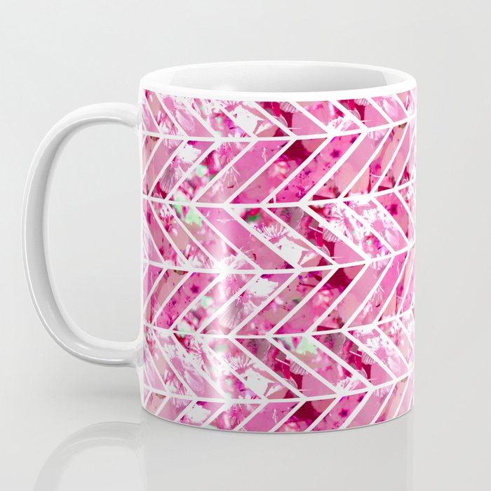 Cherry Bomb Chevron Coffee Mug