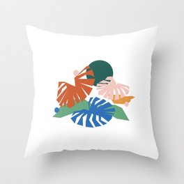 botanical dreamscape Throw Pillow