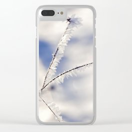 Sparkling hoar frost III Winter Snow Ice Sun Clear iPhone Case