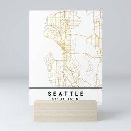 SEATTLE WASHINGTON CITY STREET MAP ART Mini Art Print