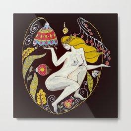 Folk Art Fairy Metal Print