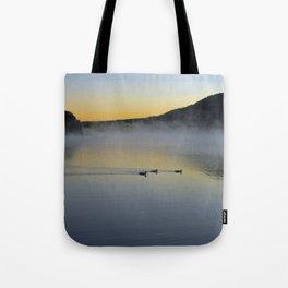 Serene Morning on Lake George Tote Bag