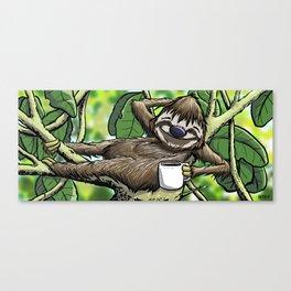 Good Morning Sloth Canvas Print