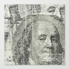 DOLLAR$ and SENSE Canvas Print