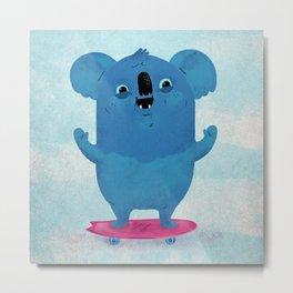 Kickflip Koala Metal Print