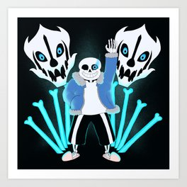 Sans the Skeleton Art Print