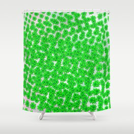 Abstract four leaf clover pattern on texture Shower Curtain