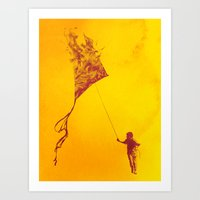 Playing with Fire Art Print