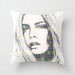Cara Delevigne Throw Pillow